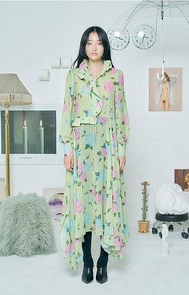 ROSE RUFFLE DRESS [LIME]