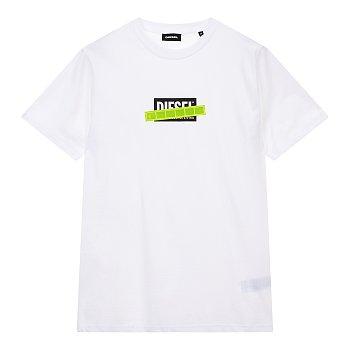 네온 패치 로고 반팔 티셔츠