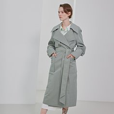 Trench Loosefit Belted Neo Mint