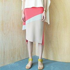 Swoosh Color Block Skirt [Florida Pink]