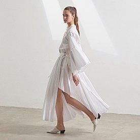 [트와이스 정연 착용] Venice pleats dress _ White