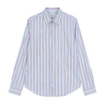컬러풀 스트라이프 코튼 셔츠