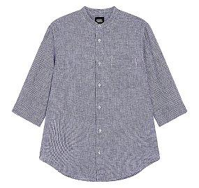 프리미엄 린넨 7부 셔츠(헨리넥)