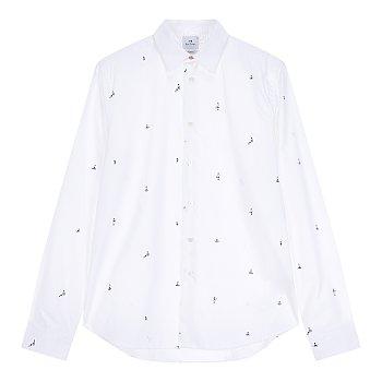[PS PAUL SMITH] 패턴드 슬림핏 코튼 셔츠