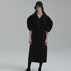 2020 NEW PUFF SLEEVE DRESS (BLACK)