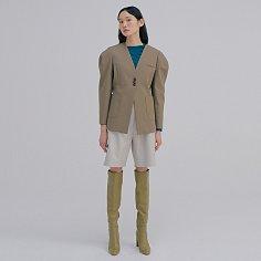 Round Sleeve Jacket_Khaki Brown
