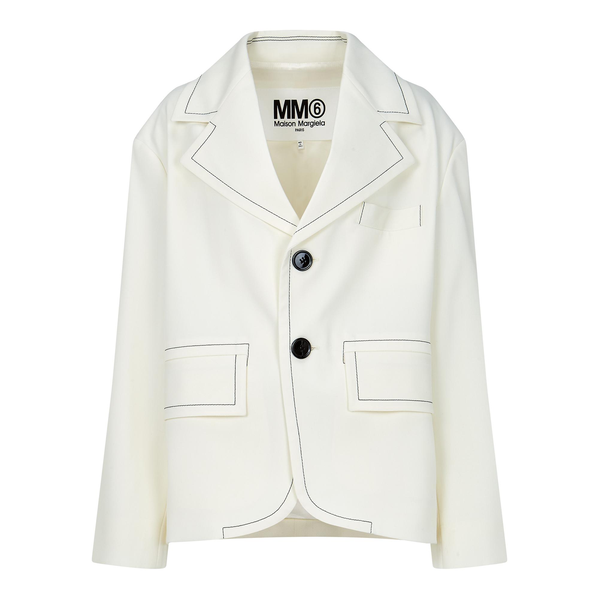 [MM6]스티치드 싱글 자켓