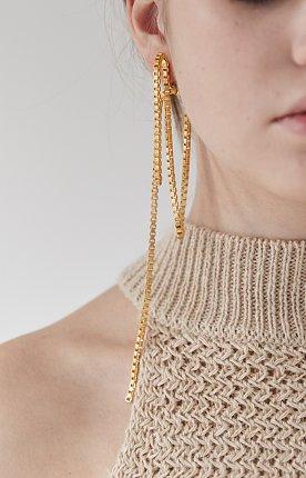 Phorcys single clip earring - gold 포르시스 싱글 클립 귀걸이 골드