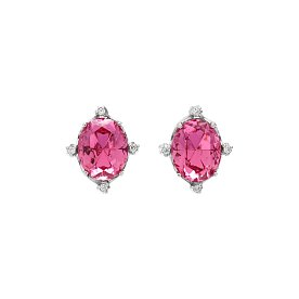 Fantasia Small Crystal Earrings_SILVER_PINK