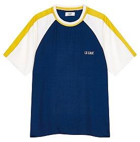 [ESSENTIAL] 우븐 컬러링 티셔츠