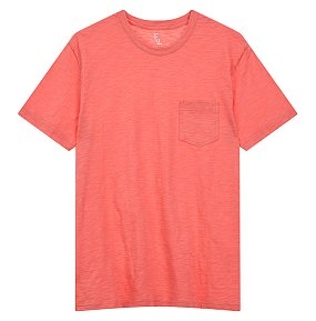 크루넥 슬럽 티셔츠
