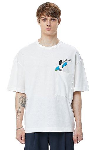 ★박태환 착용★ [COOL][x IKI YASUO] 콜라보 프린트 포켓 티셔츠
