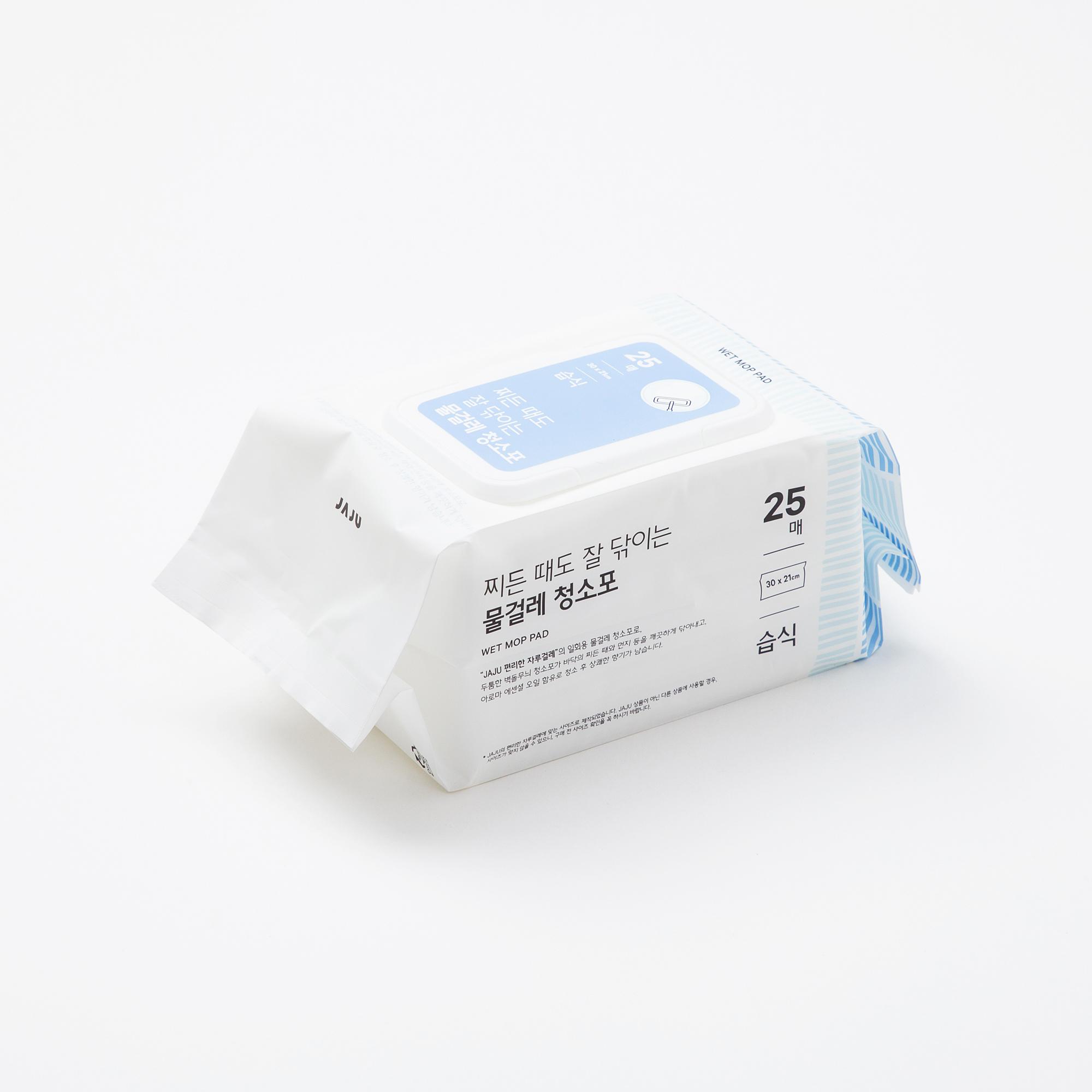 찌든때도 잘 닦이는 물걸레 청소포_25매
