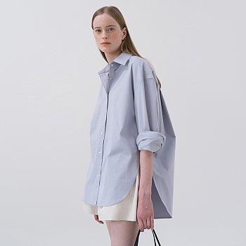 [서현진,최연수 착용] SS20 Oversized Cotton Shirt Blue