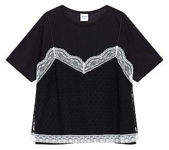 ★러블리즈 예인, 네이처 선샤인, 한성민 착용★ 레이스 뷔스티에 티셔츠