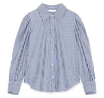 엠브로이더리 커프스 버튼업 셔츠