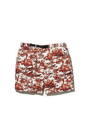 Printed Quick Dry Shorts 스노우 피크 퀵 드라이 쇼츠 레드