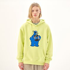 [SS20 SV X Sesame Street] Cookie Mosnter Patch Hoodie(Yellow)