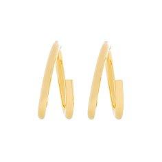 Silhouette Twin Circle Earrings_GOLD