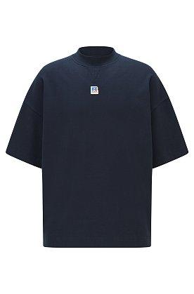 [BOSS X Russell Athletic] 로고 디테일 오가닉 코튼 릴렉스 핏 유니섹스 티셔츠