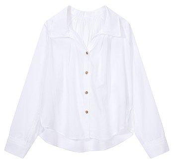 와이드 래글런 슬리브 셔츠