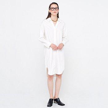 Washed Shirts Dress_White