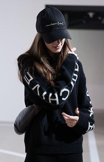 ★리오더★ [아카이브] 레터링 슬리브 하찌 니트