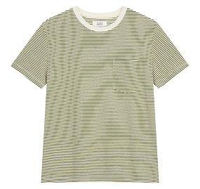 베이직 코튼 스트라이프 티셔츠