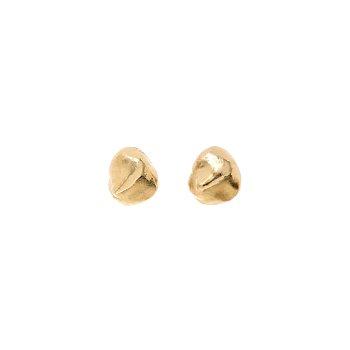 Silhouette Metal Pearl Earrings