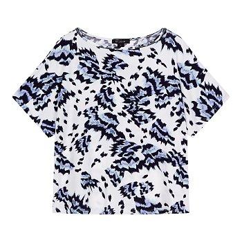 스트레치 패턴드 반팔 티셔츠