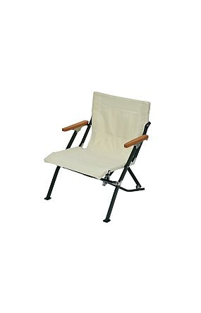 Luxury Low Beach Chair 스노우 피크 로우 체어 쇼트 아이보리