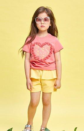 미니프릴 하트 티셔츠_핑크