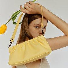 숄더 플리백 shoulder plea Bag S - banana 20도