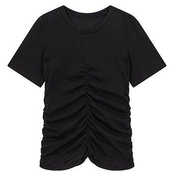 셔링 포인트 크루넥 티셔츠