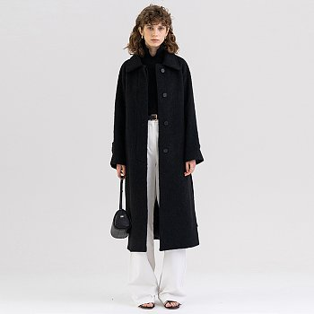 FW21 알파카 Alpaca Single Coat Black