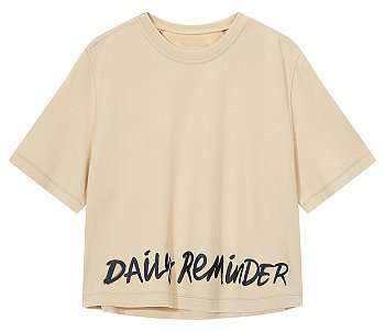레터링 그래픽 이지 티셔츠