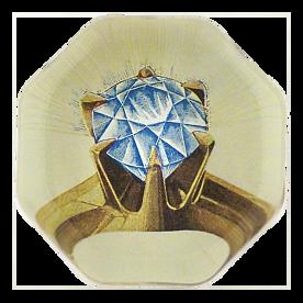 [John Derian] Diamond 8각형 유리 문진
