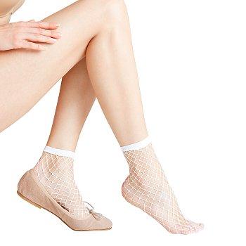 클래식 네트 발목 스타킹