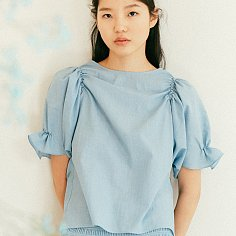 LIGHT BLUE SMOKED COTTON TOP