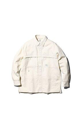 라이프 밸류 어패럴 TAKIBI Light Denim Utility Shirt 에크루