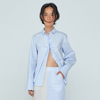 Glossy Basic Shirts / Light Blue