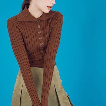 Highneck Sweater_Brown