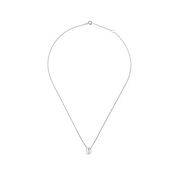 Silhouette Small Void Necklace_SILVER