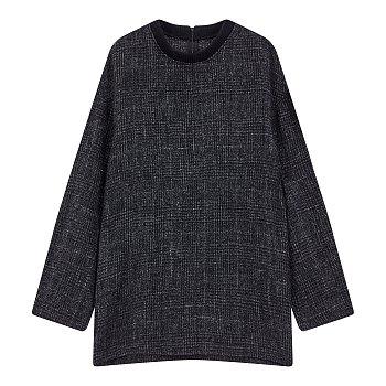 [REGULATION]체크 패턴 크루넥 니트