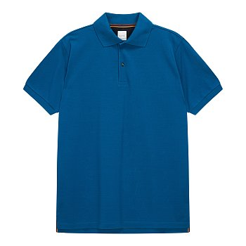 패턴 버튼업 솔리드 하프 피케 셔츠