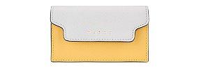 컬러 블록 플랩 카드 지갑