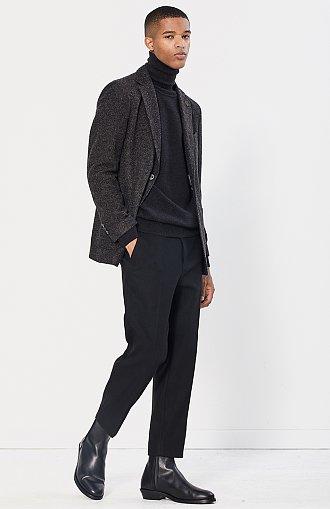 [CASUAL] 투톤 울저지 자켓