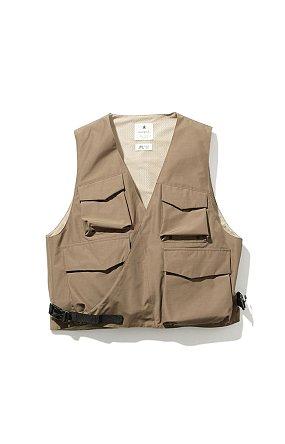 FR 3L Rain Vest 스노우피크 에프알 레인 베스트 브라운