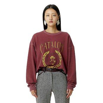 College Pullover Raspberry