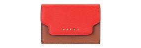 컬러 블록 트라이폴드 미니 지갑